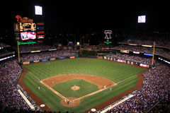 Het Park van de Bank van burgers - het Spel van de Nacht in Philadelphia Royalty-vrije Stock Fotografie