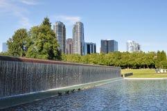 Het park van de binnenstad van Bellevue Royalty-vrije Stock Afbeeldingen