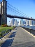 Het park van de Brug van Brooklyn, New York Stock Afbeeldingen