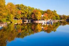 Het park van de de herfstochtend Stock Afbeelding
