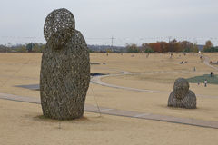 Het park van de Imjingakvrede, Sudogwon, Paju, Zuid-Korea - openluchtkunst symboliseert slachtoffers en tragedie van de Koreaanse Stock Foto