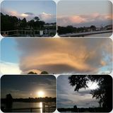 Het Park van de koningenbaai, Crystal River Florida sunsets-1 Royalty-vrije Stock Foto