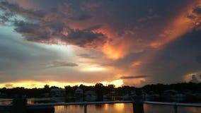 Het Park van de koningenbaai, Crystal River Florida Sunsets 51 Stock Afbeeldingen