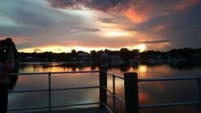 Het Park van de koningenbaai, Crystal River Florida Sunsets 54 Stock Foto