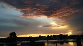 Het Park van de koningenbaai, Crystal River Florida Sunsets 70 Stock Afbeelding