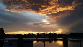 Het Park van de koningenbaai, Crystal River Florida Sunsets 73 Royalty-vrije Stock Fotografie