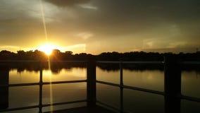 Het Park van de koningenbaai, Crystal River Florida Sunsets 91 Stock Foto's