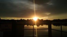 Het Park van de koningenbaai, Crystal River Florida Sunsets 93 Stock Foto