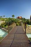 Het Park van de pret - Brug in het Park van Siam, Tenerife Royalty-vrije Stock Fotografie