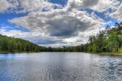 Het Park van de Staat van het McCarthystrand in Noordelijk Minnesota stock foto