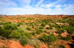 Het Park van de Staat van Caprockcanions en Trailway Stock Fotografie
