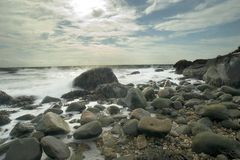 Het Park van de Staat van het Strand van Hammonasset Royalty-vrije Stock Fotografie