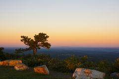 Het Park van de Staat van het zonsondergang Hoge Punt Stock Foto's