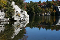 Het Park van de Staat van Minnewaska van het meer Stock Foto