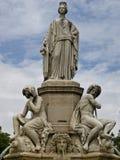 Het Park van de stad in Nîmes Frankrijk stock foto's