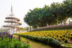 Het park van de waterkant in Taipo, Hong Kong Stock Afbeeldingen