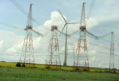 Het park van de windturbine Stock Afbeelding
