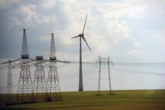 Het park van de windturbine Stock Foto's