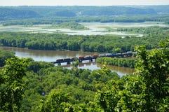 Het Park van de Wyalusingsstaat - Trein stock foto