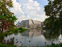 Het park van Dusseldorf Stock Foto's