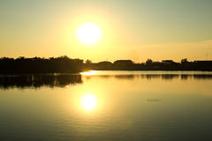 Het park van grote provincies is beroemd bij zonsondergang royalty-vrije stock foto's