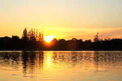 Het park van grote provincies is beroemd bij zonsondergang stock afbeelding
