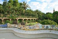 Het park van Guell, Barcelona. Stock Foto's