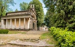 Het Park van Heilig Onderstel van Orta met Kapels, Orta San Giulio, Piemonte, Italië Stock Foto