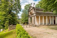 Het Park van Heilig Onderstel van Orta met Kapels, Orta San Giulio, Piemonte, Italië Royalty-vrije Stock Fotografie
