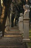 Het park van het beeldhouwwerk in Rome stock foto's