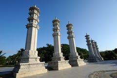 Het park van het boeddhisme, Sanya nanshan culturele toerismestreek Stock Foto's
