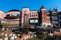 Het park van het de fabrieksthema van de Sapporochocolade stock afbeeldingen