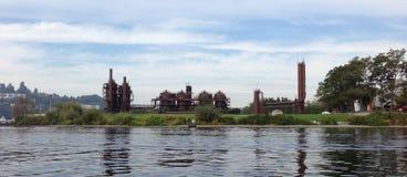 Het Park van het gaswerk, meerunie, Seattle royalty-vrije stock afbeeldingen