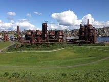 Het Park van het gaswerk, meerunie, Seattle stock fotografie