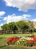 Het Park van het Goztepe 60ste Jaar in Kadikoy, Istanboel Het park is het grootste park rond Bagdat-Weg en Stock Foto's