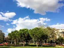 Het Park van het Goztepe 60ste Jaar in Kadikoy, Istanboel Het park is het grootste park rond Bagdat-Weg en Stock Afbeeldingen