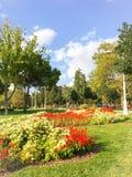 Het Park van het Goztepe 60ste Jaar in Kadikoy, Istanboel Het park is het grootste park rond Bagdat-Weg en Royalty-vrije Stock Foto