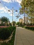 Het Park van het Goztepe 60ste Jaar in Kadikoy, Istanboel Het park is het grootste park rond Bagdat-Weg en Royalty-vrije Stock Foto's