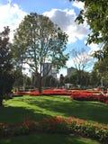 Het Park van het Goztepe 60ste Jaar in Kadikoy, Istanboel Het park is het grootste park rond Bagdat-Weg en Stock Foto