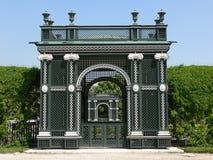 Het park van het kasteel stock afbeeldingen