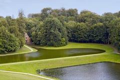 Het Park van het Kasteel van Gaasbeek stock fotografie