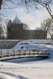 Het Park van het Kasteel van Kuressaare in Saaremaa Stock Afbeeldingen