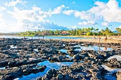 Het Park van het Poipustrand, Kauai, Hawaï, de V.S. Royalty-vrije Stock Afbeeldingen