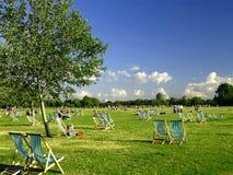 Het park van Hyde in Londen Stock Afbeeldingen