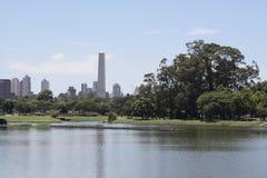 Het Park van Ibirapuera, Sao Paulo Stock Foto's