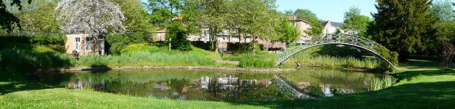 Het park van Leuven België stock fotografie