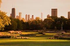 Het Park van Lincoln tijdens daling Stock Fotografie