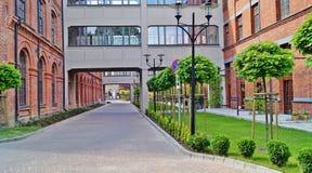 Het Park van Lodz, Polen - Tobaco- Stock Afbeelding