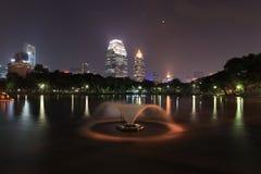 Het Park van Lumpini, Bangkok, Thailand. Stock Fotografie