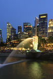 Het Park van Merlion, Singapore Stock Afbeelding